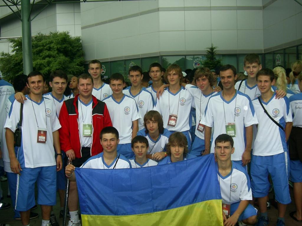 Ukrainian team in South Korea, Seoul, 2007