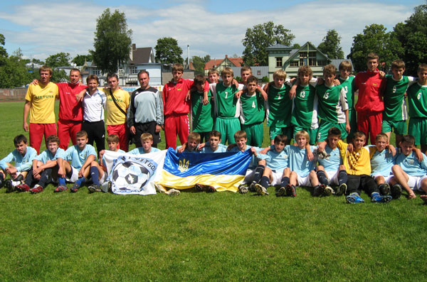 "FC ""Slavutych"" at tournament in Estonia in 2008"