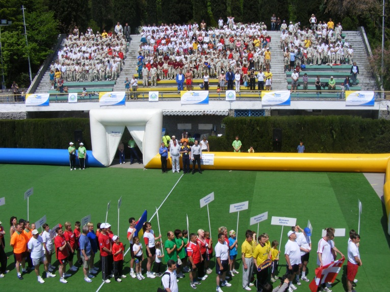 Opening of competition, Crimea, Artek, 2009