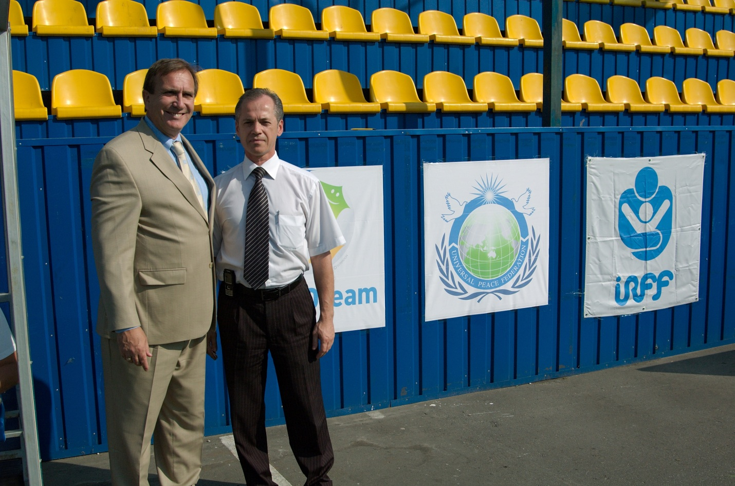 Tournament Coordinator Robert Gram together with Head of Kiev Soccer Federation Kochetov I.M., 2008.
